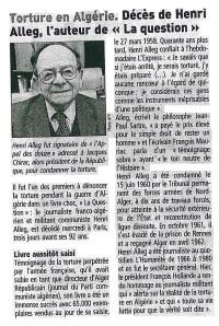 décès Alleg Télégramme juillet 2013